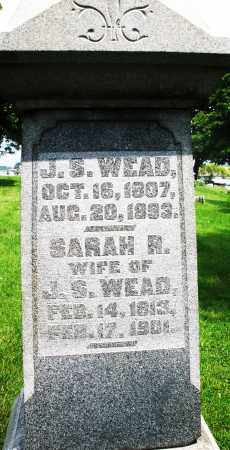 WEAD, SARAH R. - Montgomery County, Ohio | SARAH R. WEAD - Ohio Gravestone Photos