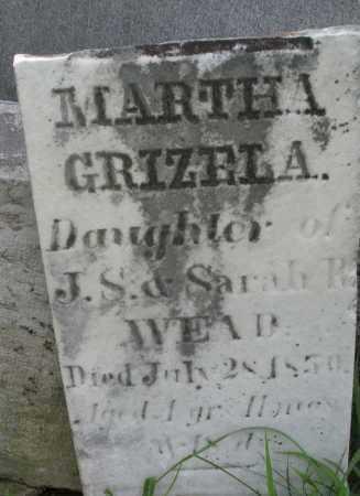 WEAD, MARTHA GRIZELA - Montgomery County, Ohio | MARTHA GRIZELA WEAD - Ohio Gravestone Photos