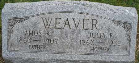 WEAVER, JULIA E. - Montgomery County, Ohio | JULIA E. WEAVER - Ohio Gravestone Photos