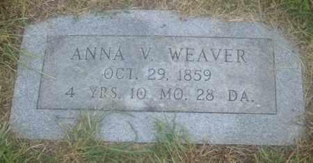 WEAVER, ANNA V. - Montgomery County, Ohio | ANNA V. WEAVER - Ohio Gravestone Photos