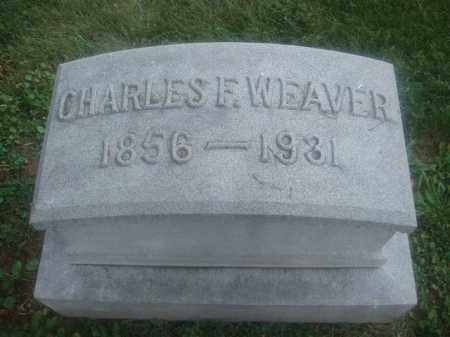 WEAVER, CHARLES F. - Montgomery County, Ohio   CHARLES F. WEAVER - Ohio Gravestone Photos