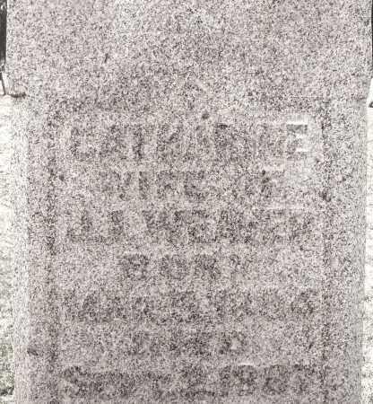 WEAVER, CATHARINE - Montgomery County, Ohio   CATHARINE WEAVER - Ohio Gravestone Photos