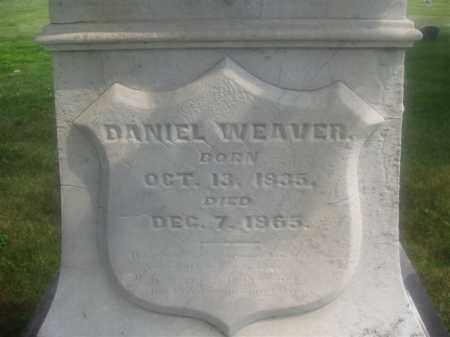 WEAVER, DANIEL - Montgomery County, Ohio | DANIEL WEAVER - Ohio Gravestone Photos