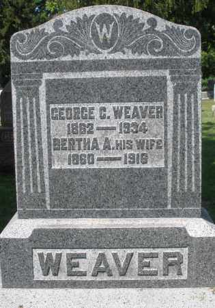 WEAVER, BERTHA A. - Montgomery County, Ohio | BERTHA A. WEAVER - Ohio Gravestone Photos