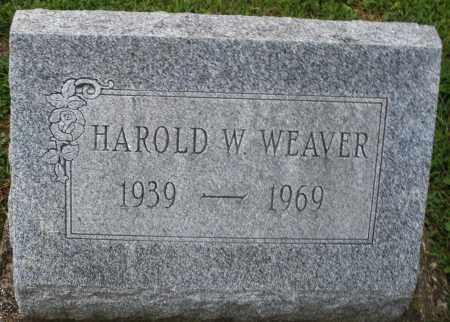 WEAVER, HAROLD W. - Montgomery County, Ohio | HAROLD W. WEAVER - Ohio Gravestone Photos