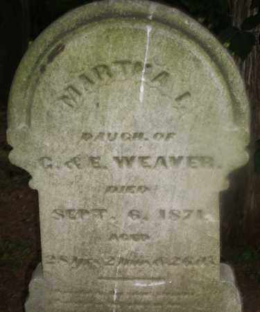 WEAVER, MARTHA - Montgomery County, Ohio | MARTHA WEAVER - Ohio Gravestone Photos