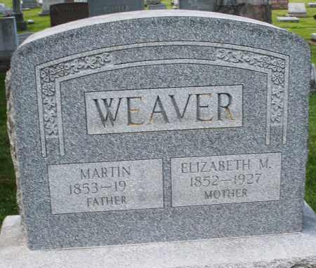 WEAVER, ELIZABETH M. - Montgomery County, Ohio | ELIZABETH M. WEAVER - Ohio Gravestone Photos