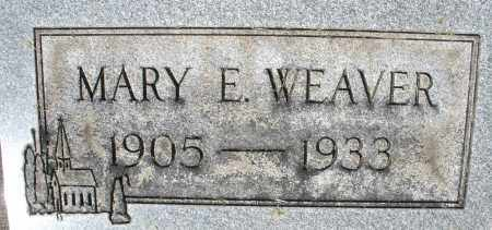 WEAVER, MARY E. - Montgomery County, Ohio | MARY E. WEAVER - Ohio Gravestone Photos