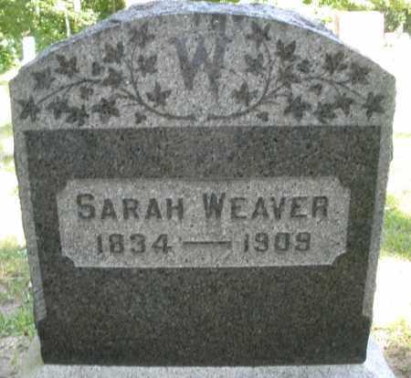 WEAVER, SARAH - Montgomery County, Ohio | SARAH WEAVER - Ohio Gravestone Photos
