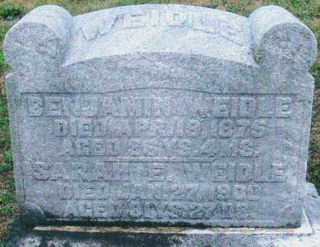 REEL WEIDLE, SARAH ELIZABETH - Montgomery County, Ohio | SARAH ELIZABETH REEL WEIDLE - Ohio Gravestone Photos