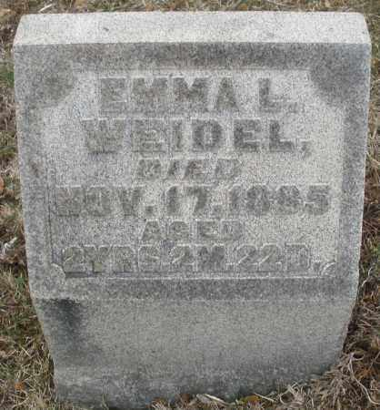 WEIDLE, EMMA L. - Montgomery County, Ohio | EMMA L. WEIDLE - Ohio Gravestone Photos