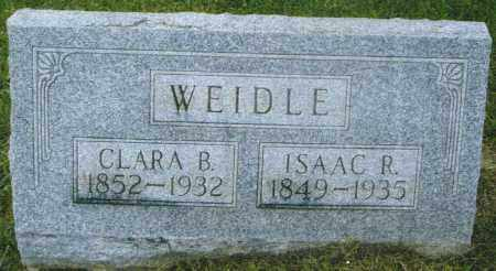 WEIDLE, ISAAC REEL - Montgomery County, Ohio | ISAAC REEL WEIDLE - Ohio Gravestone Photos