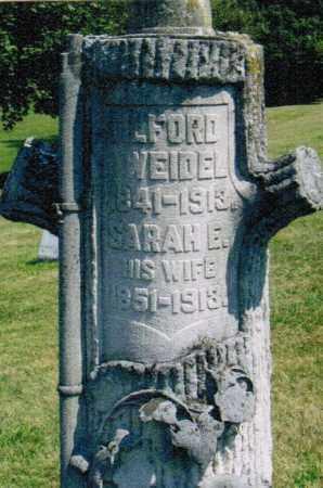 WEIDLE, SARAH ELIZABETH - Montgomery County, Ohio | SARAH ELIZABETH WEIDLE - Ohio Gravestone Photos