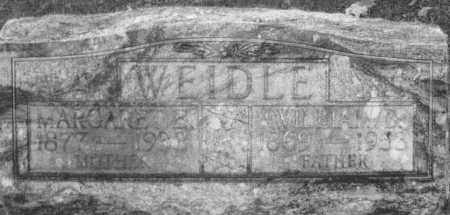 WEIDLE, MARGARET ELIZABETH - Montgomery County, Ohio | MARGARET ELIZABETH WEIDLE - Ohio Gravestone Photos