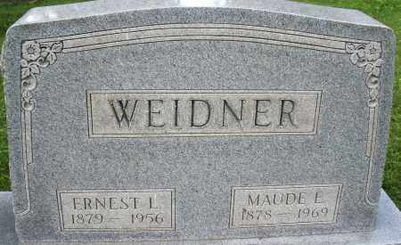 WEIDNER, MAUDE E. - Montgomery County, Ohio | MAUDE E. WEIDNER - Ohio Gravestone Photos
