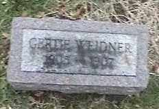 WEIDNER, GERTIE - Montgomery County, Ohio | GERTIE WEIDNER - Ohio Gravestone Photos