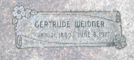 WEIDNER, GERTRUDE - Montgomery County, Ohio | GERTRUDE WEIDNER - Ohio Gravestone Photos