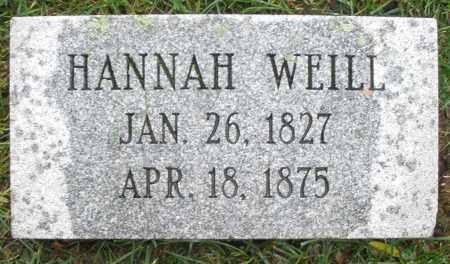 WEILL, HANNAH - Montgomery County, Ohio | HANNAH WEILL - Ohio Gravestone Photos