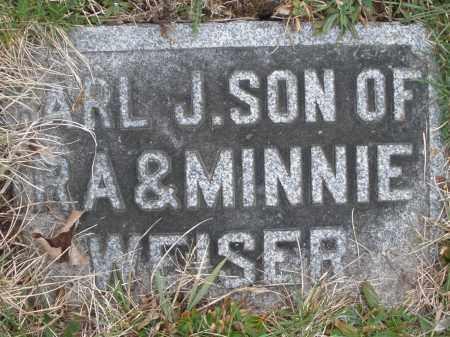 WEISER, CARL J. - Montgomery County, Ohio   CARL J. WEISER - Ohio Gravestone Photos