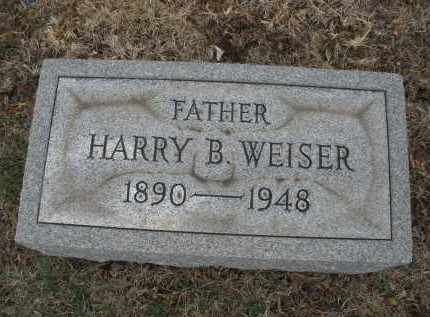 WEISER, HARRY B. - Montgomery County, Ohio | HARRY B. WEISER - Ohio Gravestone Photos