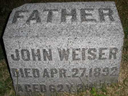 WEISER, JOHN - Montgomery County, Ohio | JOHN WEISER - Ohio Gravestone Photos