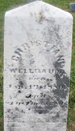 WELLBAUM, CHRISTIAN - Montgomery County, Ohio | CHRISTIAN WELLBAUM - Ohio Gravestone Photos