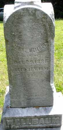 WELLBAUM, JOHN E. - Montgomery County, Ohio | JOHN E. WELLBAUM - Ohio Gravestone Photos