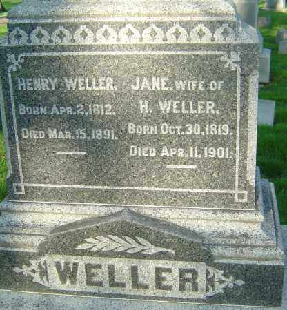 WELLER, HENRY - Montgomery County, Ohio | HENRY WELLER - Ohio Gravestone Photos