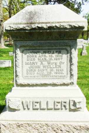 WELLER, MARY ANN - Montgomery County, Ohio | MARY ANN WELLER - Ohio Gravestone Photos