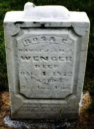 WENGER, ROSA E. - Montgomery County, Ohio | ROSA E. WENGER - Ohio Gravestone Photos