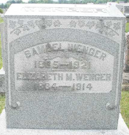 WENGER, ELIZABETH M. - Montgomery County, Ohio | ELIZABETH M. WENGER - Ohio Gravestone Photos