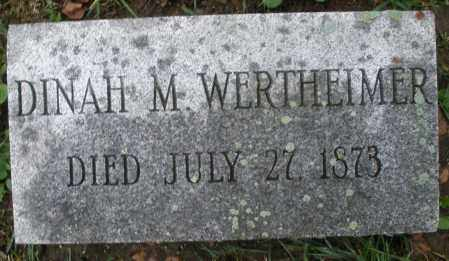 WERTHEIMER, DINAH M. - Montgomery County, Ohio | DINAH M. WERTHEIMER - Ohio Gravestone Photos