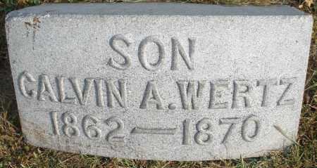 WERTZ, CALVIN - Montgomery County, Ohio | CALVIN WERTZ - Ohio Gravestone Photos