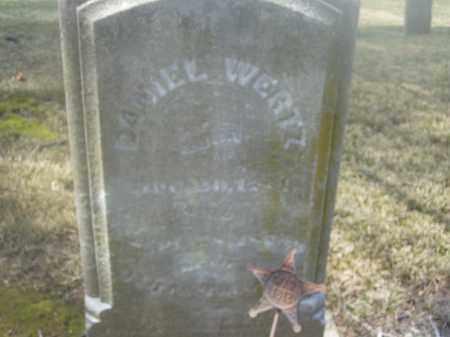 WERTZ, DANIEL - Montgomery County, Ohio | DANIEL WERTZ - Ohio Gravestone Photos