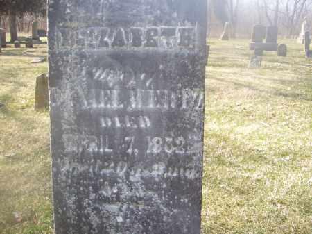 WERTZ, ELIZABETH - Montgomery County, Ohio | ELIZABETH WERTZ - Ohio Gravestone Photos
