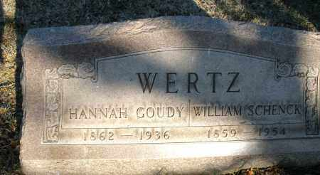 WERTZ, WILLIAM SCHENCK - Montgomery County, Ohio | WILLIAM SCHENCK WERTZ - Ohio Gravestone Photos