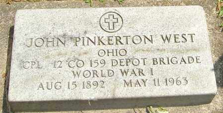 WEST, JOHN PINKERTON - Montgomery County, Ohio | JOHN PINKERTON WEST - Ohio Gravestone Photos