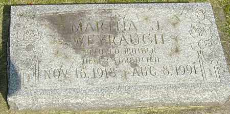 WEYRAUCH, MARTHA J - Montgomery County, Ohio | MARTHA J WEYRAUCH - Ohio Gravestone Photos