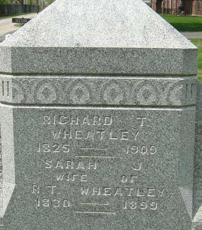 WHEATLEY, SARAH J - Montgomery County, Ohio | SARAH J WHEATLEY - Ohio Gravestone Photos