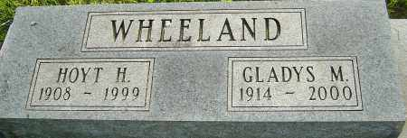 WHEELAND, GLADYS M - Montgomery County, Ohio | GLADYS M WHEELAND - Ohio Gravestone Photos