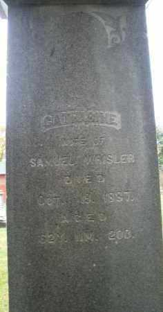 WHISLER, CATHARINE - Montgomery County, Ohio | CATHARINE WHISLER - Ohio Gravestone Photos
