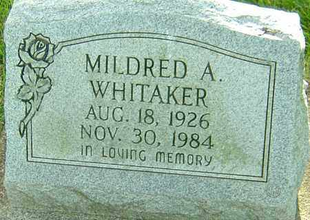 WHITAKER, MILDRED A - Montgomery County, Ohio | MILDRED A WHITAKER - Ohio Gravestone Photos