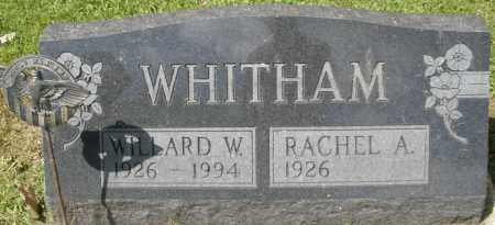 WHITHAM, RACHEL A. - Montgomery County, Ohio | RACHEL A. WHITHAM - Ohio Gravestone Photos