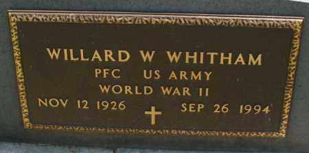 WHITHAM, WILLARD W. - Montgomery County, Ohio | WILLARD W. WHITHAM - Ohio Gravestone Photos