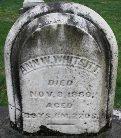 WHITSITT, ANN W. - Montgomery County, Ohio | ANN W. WHITSITT - Ohio Gravestone Photos