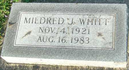 WHITT, MILDRED J - Montgomery County, Ohio | MILDRED J WHITT - Ohio Gravestone Photos