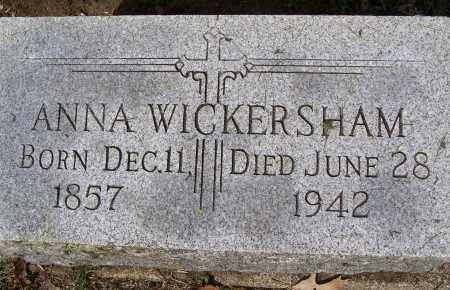 WICKERSHAM, ANNA - Montgomery County, Ohio | ANNA WICKERSHAM - Ohio Gravestone Photos