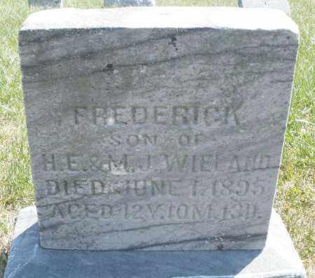 WIELAND, FREDERICK - Montgomery County, Ohio | FREDERICK WIELAND - Ohio Gravestone Photos