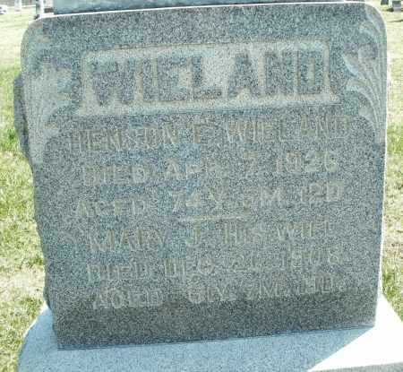 WIELAND, MARY J. - Montgomery County, Ohio | MARY J. WIELAND - Ohio Gravestone Photos