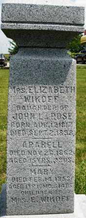 WIKOFF, MARY - Montgomery County, Ohio | MARY WIKOFF - Ohio Gravestone Photos